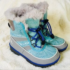 💜❄️Sorel Girls Waterproof Snow Boots